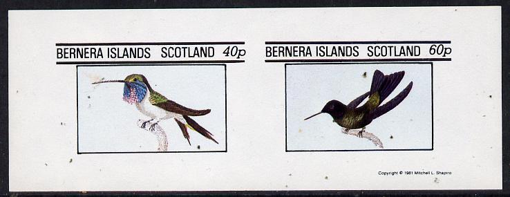 Bernera 1981 Birds #03 (Humming Birds) imperf  set of 2 values (40p & 60p) unmounted mint