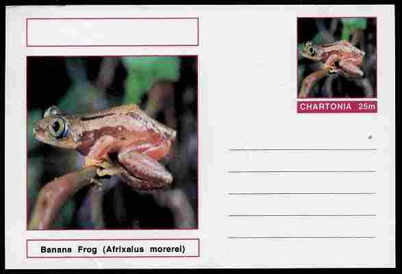 Chartonia (Fantasy) Amphibians - Banana Frog (Afrixalus morerei) postal stationery card unused and fine
