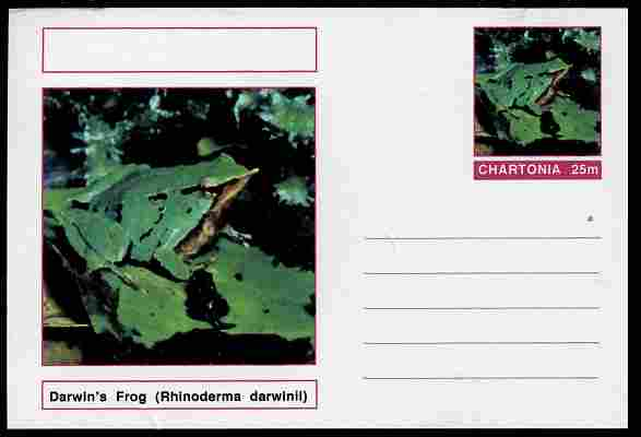 Chartonia (Fantasy) Amphibians - Darwin\D5s Frog (Rhinoderma darwinii) postal stationery card unused and fine