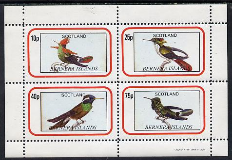 Bernera 1981 Exotic Birds perf  set of 4 values (10p to 75p) unmounted mint