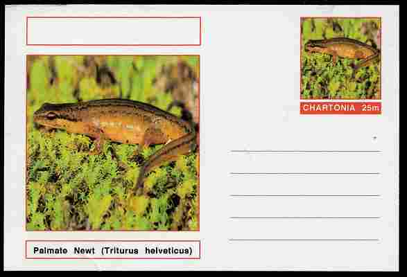 Chartonia (Fantasy) Amphibians - Palmate Newt (Triturus helveticus) postal stationery card unused and fine
