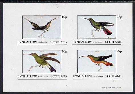 Eynhallow 1981 Humming Birds imperf  set of 4 values (10p to 75p) unmounted mint