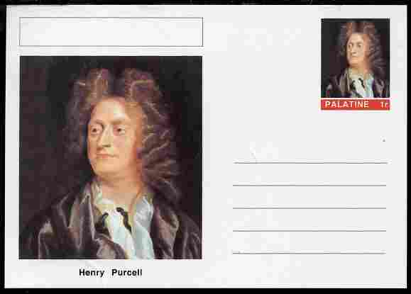 Palatine (Fantasy) Personalities - Henry Purcell (composer) postal stationery card unused and fine
