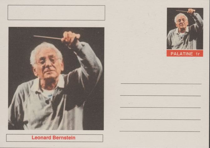 Palatine (Fantasy) Personalities - Leonard Bernstein (composer) postal stationery card unused and fine