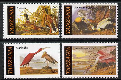Tanzania 1986 John Audubon Birds set of 4 (SG 464-7) unmounted mint