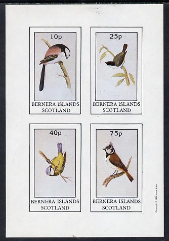 Bernera 1981 Birds #04 (Tits) imperf  set of 4 values (10p to 75p) unmounted mint