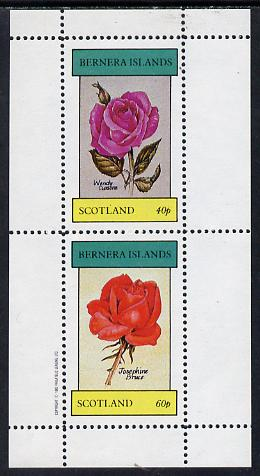 Bernera 1982 Roses (Wendy Cussons & Josephine Bruce) perf  set of 2 values (40p & 60p) unmounted mint