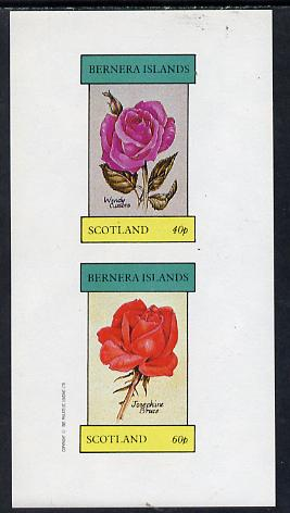 Bernera 1982 Roses (Wendy Cussons & Josephine Bruce) imperf  set of 2 values (40p & 60p) unmounted mint