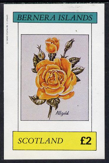 Bernera 1982 Roses (Allgold) imperf deluxe sheet (�2 value) unmounted mint