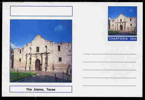 Chartonia (Fantasy) Landmarks - The Alamo, Texas postal stationery card unused and fine