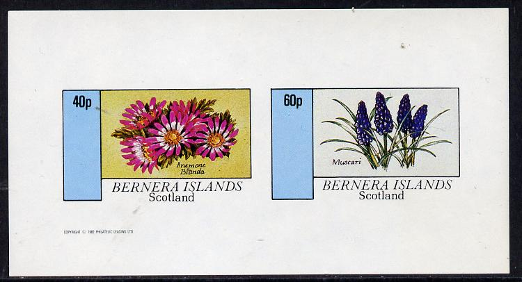 Bernera 1982 Flowers #03 (Anemone & Muscari) imperf  set of 2 values (40p & 60p) unmounted mint