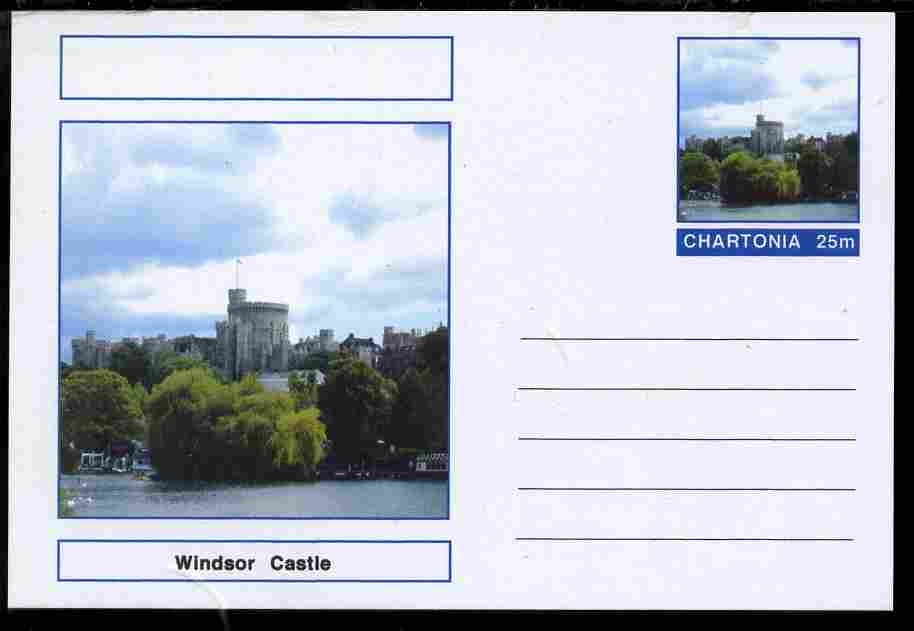Chartonia (Fantasy) Landmarks - Windsor Castle, Berkshire postal stationery card unused and fine