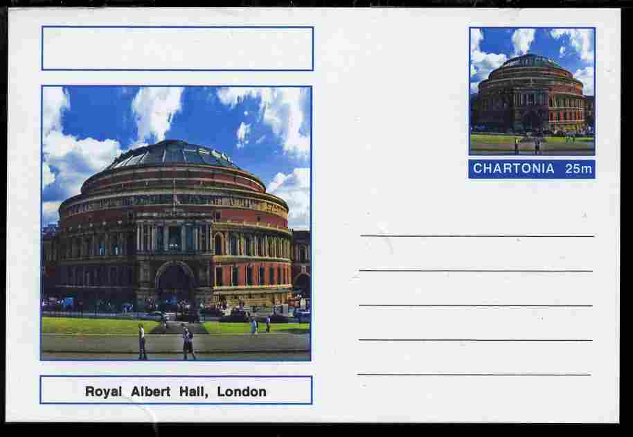 Chartonia (Fantasy) Landmarks - Royal Albert Hall, London postal stationery card unused and fine