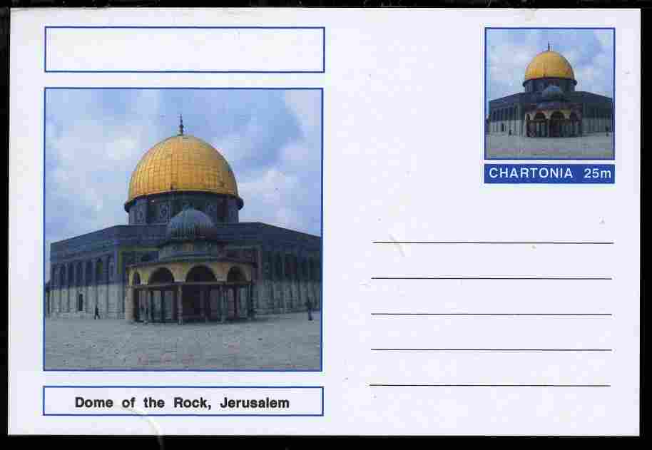 Chartonia (Fantasy) Landmarks - Dome of the Rock, Jerusalem postal stationery card unused and fine
