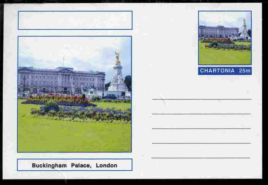Chartonia (Fantasy) Landmarks - Buckingham Palace, London postal stationery card unused and fine