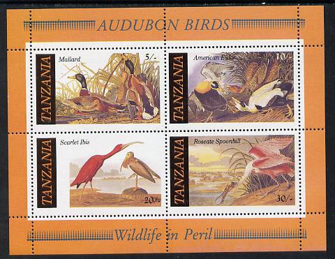 Tanzania 1986 John Audubon Birds m/sheet unmounted mint SG MS 468
