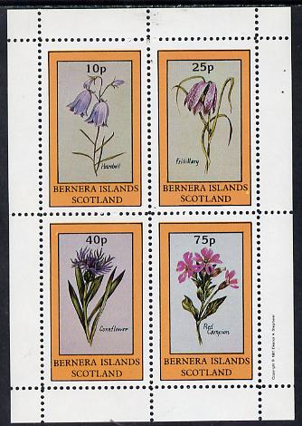 Bernera 1981 Flowers #01 (Harebell, Fritillary, Cornflower & Red Campion) perf  set of 4 values (10p to 75p) unmounted mint