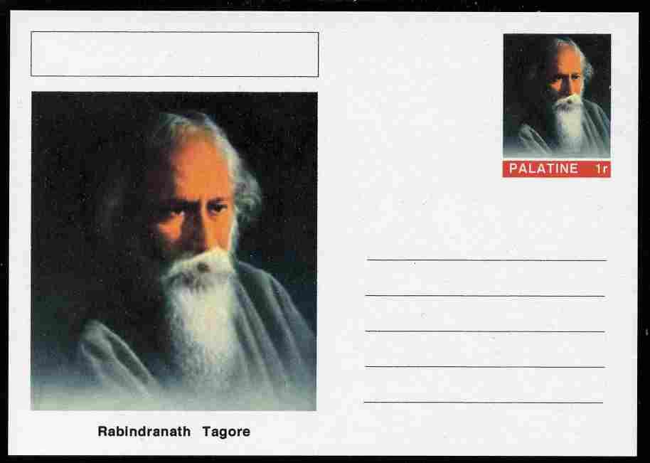 Palatine (Fantasy) Personalities - Rabindranath Tagore (literature) postal stationery card unused and fine