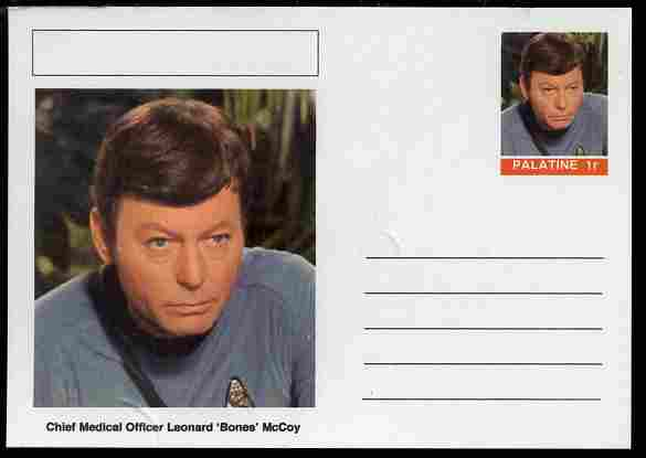 Palatine (Fantasy) Star Trek - Chief Medical Officer Leonard 'Bones' McCoy postal stationery card unused and fine