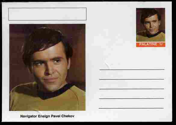 Palatine (Fantasy) Star Trek - Navigator Ensign Pavel Chekov postal stationery card unused and fine