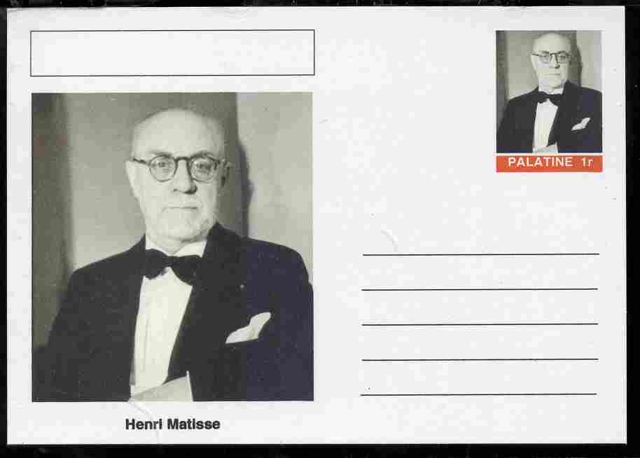 Palatine (Fantasy) Personalities - Henri Matisse postal stationery card unused and fine
