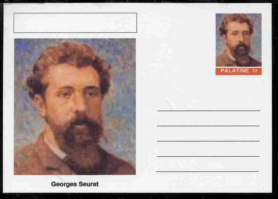 Palatine (Fantasy) Personalities - Georges Seurat postal stationery card unused and fine