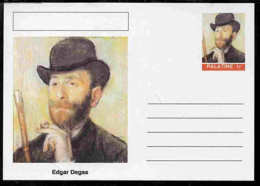 Palatine (Fantasy) Personalities - Edgar Degas postal stationery card unused and fine
