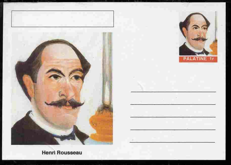 Palatine (Fantasy) Personalities - Henri Rousseau postal stationery card unused and fine