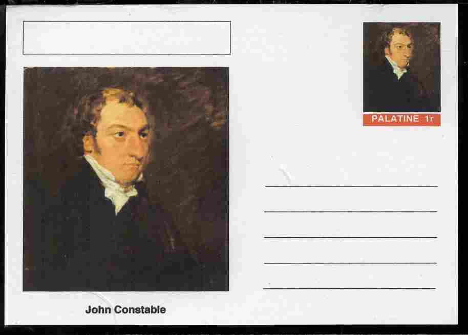Palatine (Fantasy) Personalities - John Constable postal stationery card unused and fine
