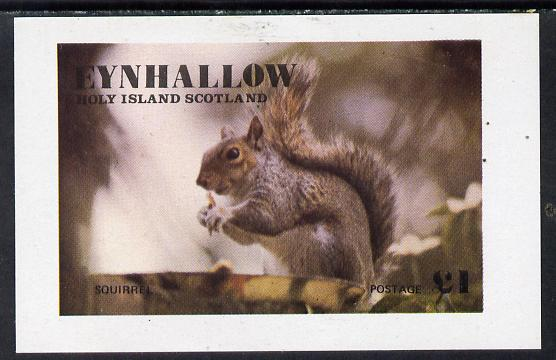 Eynhallow 1977 Squirrel imperf souvenir sheet (�1 value) unmounted mint