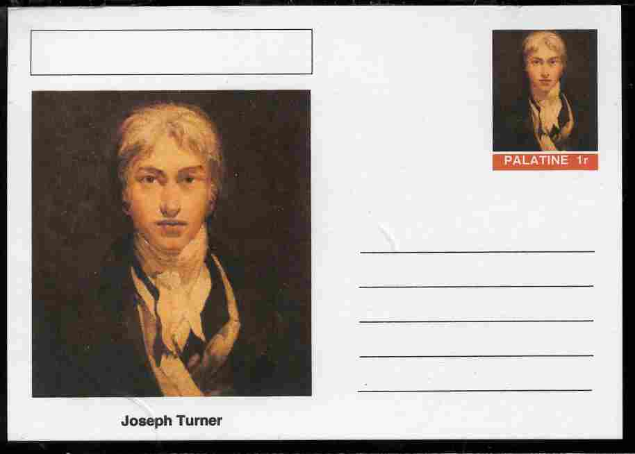 Palatine (Fantasy) Personalities - Joseph Turner postal stationery card unused and fine