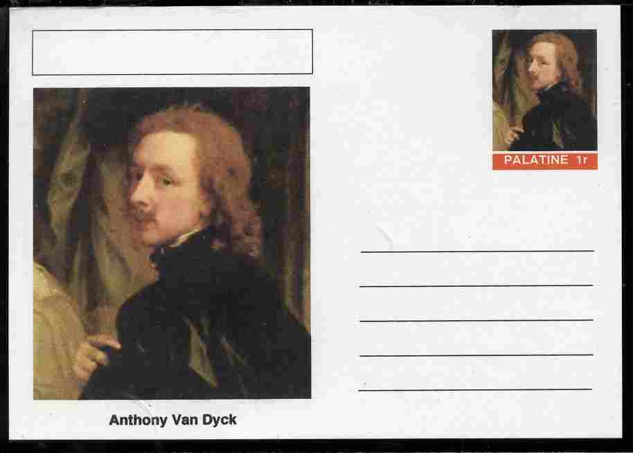 Palatine (Fantasy) Personalities - Anthony Van Dyck postal stationery card unused and fine