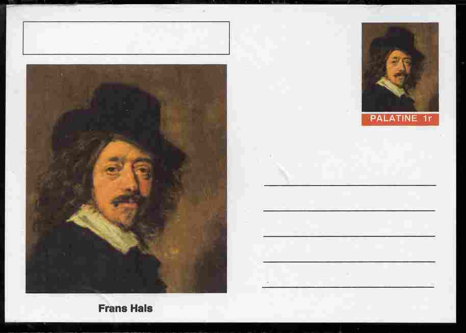 Palatine (Fantasy) Personalities - Frans Hals postal stationery card unused and fine