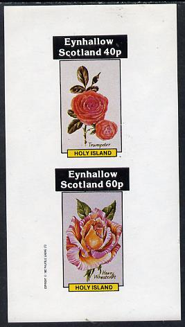 Eynhallow 1982 Roses (Trumpeter & Harry Wheatcroft) imperf  set of 2 values (40p & 60p) unmounted mint