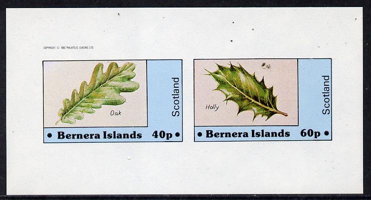 Bernera 1982 Tree Leaves (Oak & Holly) imperf  set of 2 values (40p & 60p) unmounted mint