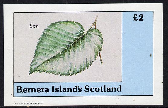 Bernera 1982 Tree Leaves (Elm) imperf deluxe sheet (�2 value) unmounted mint