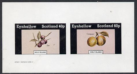 Eynhallow 1982 Fruit (Sloe & Greengage) imperf  set of 2 values (40p & 60p) unmounted mint