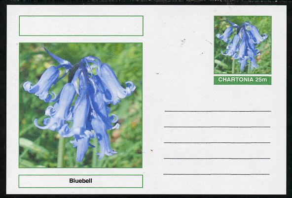 Chartonia (Fantasy) Flowers - Bluebell postal stationery card unused and fine