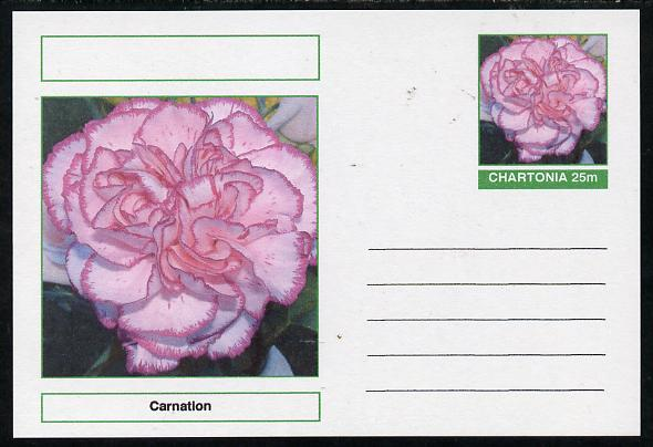 Chartonia (Fantasy) Flowers - Carnation postal stationery card unused and fine