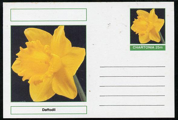 Chartonia (Fantasy) Flowers - Daffodil postal stationery card unused and fine