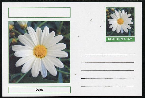 Chartonia (Fantasy) Flowers - Daisy postal stationery card unused and fine