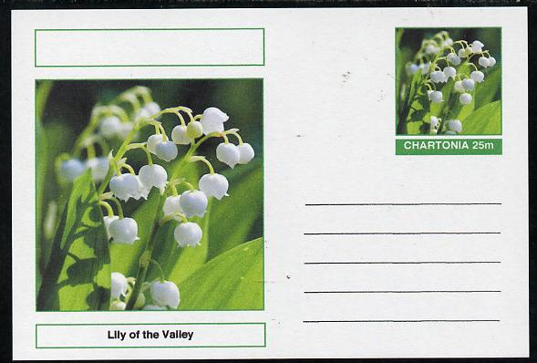 Chartonia (Fantasy) Flowers - Lily of the Valley postal stationery card unused and fine