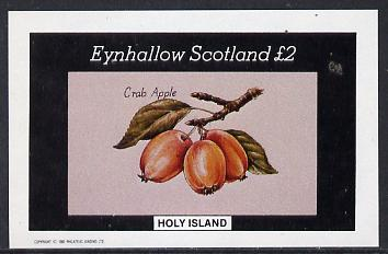 Eynhallow 1982 Fruit (Crab Apple) imperf deluxe sheet (�2 value) unmounted mint
