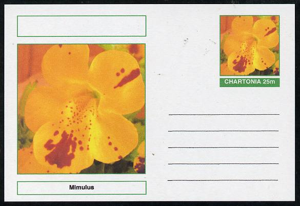 Chartonia (Fantasy) Flowers - Mimulus postal stationery card unused and fine