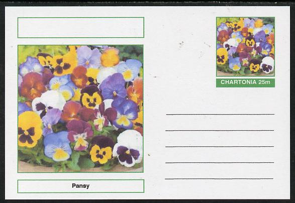 Chartonia (Fantasy) Flowers - Pansy postal stationery card unused and fine