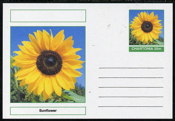 Chartonia (Fantasy) Flowers - Sunflower postal stationery card unused and fine