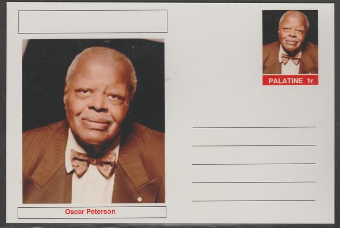 Palatine (Fantasy) Personalities - Oscar Peterson postal stationery card unused and fine