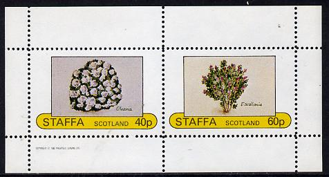 Staffa 1982 Flowers #05 (Olearia & Escallonia) perf  set of 2 values (40p & 60p) unmounted mint