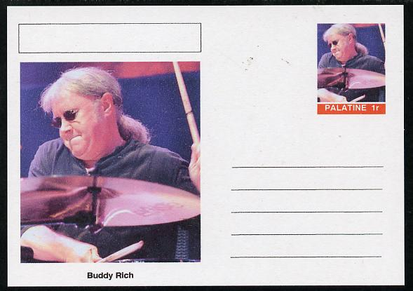 Palatine (Fantasy) Personalities - Buddy Rich postal stationery card unused and fine