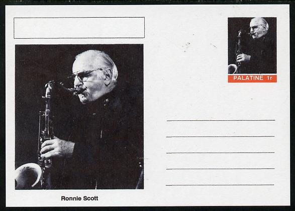 Palatine (Fantasy) Personalities - Ronnie Scott postal stationery card unused and fine
